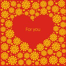 Free Postcard With Creative Heart. Royalty Free Stock Photos - 13888568