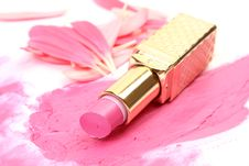Free Pink Lipstick Royalty Free Stock Photos - 13889348