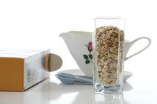 Free Stack Of Oat Flakes Stock Photography - 13889762