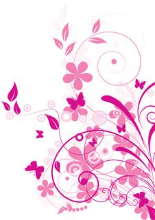 Free Abstract Floral Background Royalty Free Stock Photos - 13889808