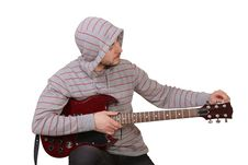 Free Young Man With Guitar Stock Image - 13889911