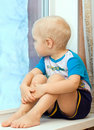 Free Boy At Window Stock Photo - 13899200