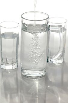 A Glass Of Mineral Water Royalty Free Stock Images
