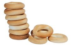 Free Round Bagels Royalty Free Stock Image - 13890196