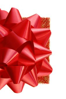 Free Red Gift Bow On Box Stock Photos - 13890393