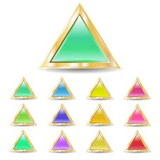 Free Triangular Buttons Stock Image - 13891071