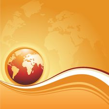 Free Abstract Illustration With Globe Stock Photography - 13891092