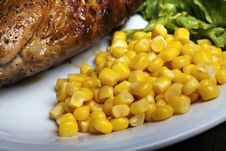 Grilled Meat With Vegetable Stock Images