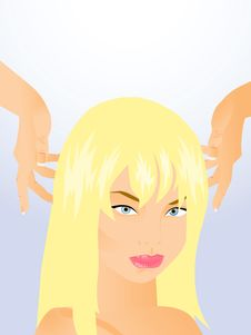Style Hair Blonde Royalty Free Stock Image