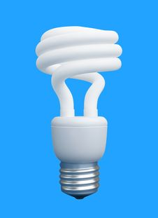 Free Compact Fluorescent Light Bulb Royalty Free Stock Photo - 13892355
