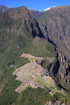 Free Aerial View Of Machu Picchu Royalty Free Stock Photo - 13892375