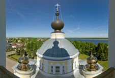 View From The Bell Tower On City Stock Photography