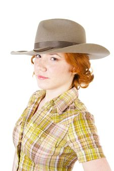 Free Girl In Cowboy Hat Stock Photography - 13892532