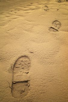 Free Footprints Stock Image - 13892561