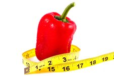 Free Red Pepper Whit Tape Measure Stock Image - 13892871