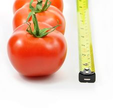 Free Isolated Fresh Tomatoes And Rule Stock Images - 13892894