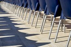 Free Row Of Blue Chairs In A Holiday Resort, Turkey Royalty Free Stock Photos - 13893578