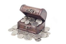 Free Malaysia Coins In Treasure Chest Royalty Free Stock Photography - 13893627