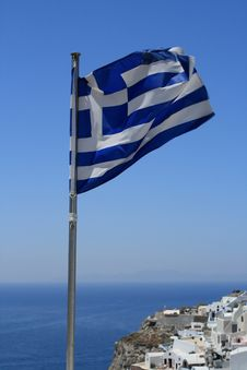 Free Greek Flag Stock Image - 13893821