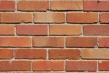 Reddish, Orange Brick Wall Stock Photos