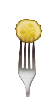 Free Pickle On A Fork Stock Photos - 13893963