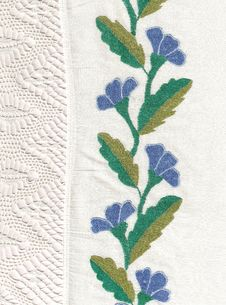 Free National Style Of Embroidery. Royalty Free Stock Images - 13894419