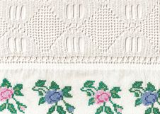 Free National Style Of Embroidery. Royalty Free Stock Photos - 13894468