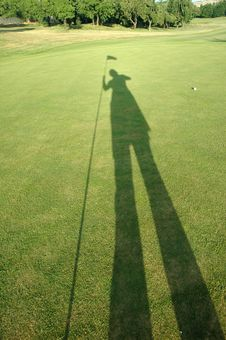 Golf Shadow Royalty Free Stock Images