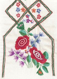 Free National Style Of Embroidery. Royalty Free Stock Image - 13894506