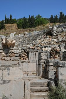Free Piece Of Odeon In Ephesus Stock Photo - 13894560