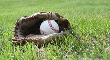 Free Glove & Ball Royalty Free Stock Photo - 13895685
