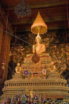 Free Wat Pho Buddist Monk Statue Stock Photo - 13895730