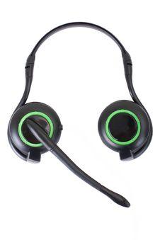 Free Black Headphones Isolated On White Background Royalty Free Stock Images - 13896019