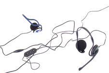 Free Black Headphones Isolated On White Background Stock Photography - 13896022