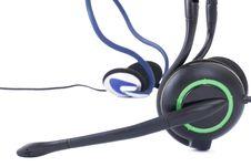 Free Black Headphones Isolated On White Background Stock Photos - 13896023