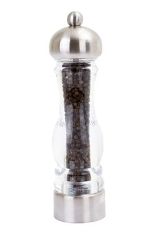 Free Glass Grinder Of Pepper Isolated On A Royalty Free Stock Photos - 13896058
