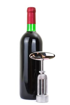 Free Wine Bottle Isolated On A White Background Royalty Free Stock Photos - 13896148