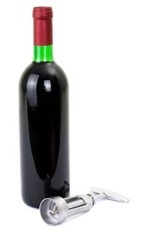 Free Wine Bottle Isolated On A White Background Stock Images - 13896154