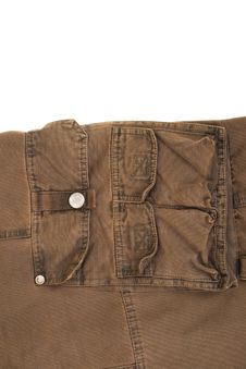 Jeans Texture Khaki Colour Stock Photography