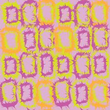 Seamless Pattern With Abstract Rectangular Element Stock Photography