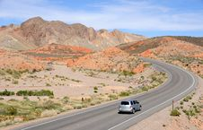 Driving Through Lake Mead National Recreation Area Royalty Free Stock Photo