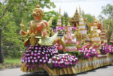 Monkey Saint In Ramayana Epic Parade Stock Image
