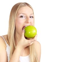 Free Woman With Apple Royalty Free Stock Photo - 13897335