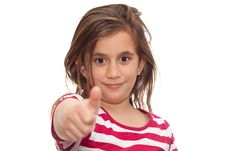 Free Small Girl Showing Thumbs Up Stock Images - 13897374