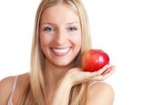 Free Woman Holding An Apple Royalty Free Stock Photo - 13897385