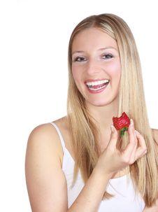 Free Woman Eating Strawberry Royalty Free Stock Photos - 13897438