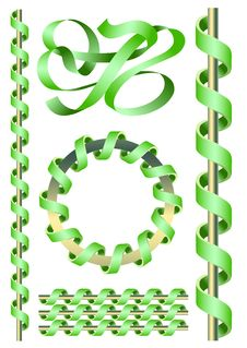 Free Twisted Tapes Royalty Free Stock Image - 13897546