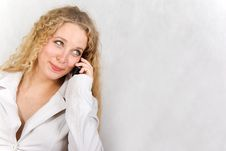 Free The Girl With Phone. Stock Photography - 13898002