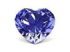 Diamond Crystal. Stock Photo