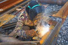 Free Welder In Mask Welding Construction Stock Photo - 13899010